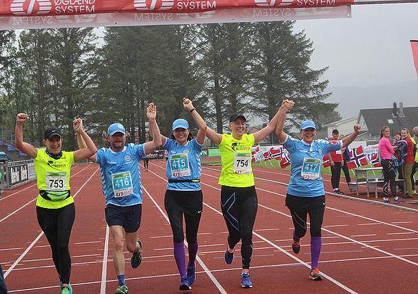 Stor løpsfest i Sandnes da det første Sandnesløpet gikk av stabelen. Foto: Sandnes IL
