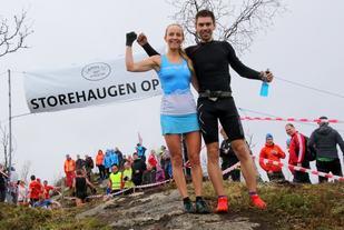 Anita Iversen Lilleskare og Geir Steig. (Foto: Jan Chr. Jerving/arrangør)