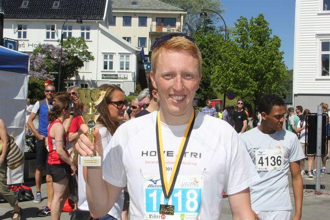 Andreas Øksendal vant maraton. (Foto: Arrangøren)