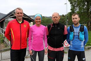Klar for Bergens Råeste, løypesjef Tom Eirik Eikanger, Kirsten Marathon Melkevik, Stian Angermund-Vik og Kjell Karstensen