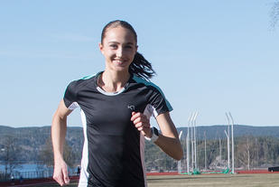 Karoline Skauen har grunn til å smile etter en meget sterk start på sesongen. (Arkivfoto: Bjørn Johannessen)