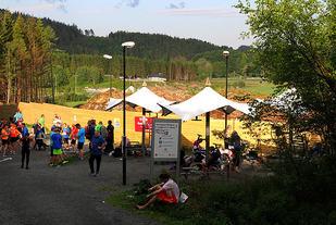 Start og målområdet i Hordnesskogen. Foto : Arne Dag Myking