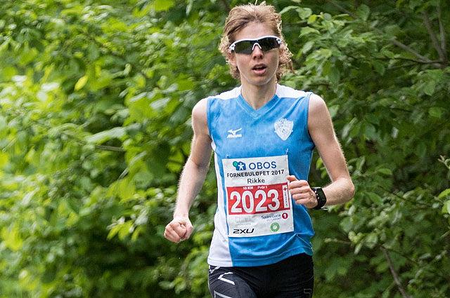 Rikke Bersaas Torsheim, Viking fulgte opp tredjeplassen i Fornebuløpet (hvor bildet er fra) med seier i Oppegårdmila. Foto: Sylvain Cavatz