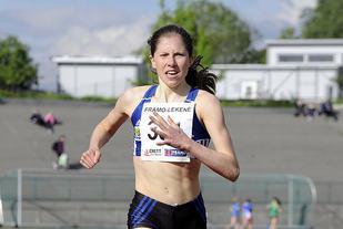 Ingvild Myking vinner 1500 meter i Framolekene.