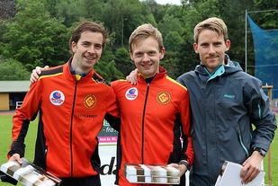 Premiepallen 3000 meter i Framolekene: Vidar Dahle, Bjørnar Sandnes Lillefosse, Eivind Øygard.