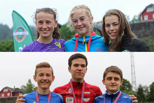 Premiepallene for jenter og gutter 2000 meter