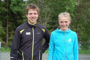 Arve Rindal og Kristine Hjellbakk Hole