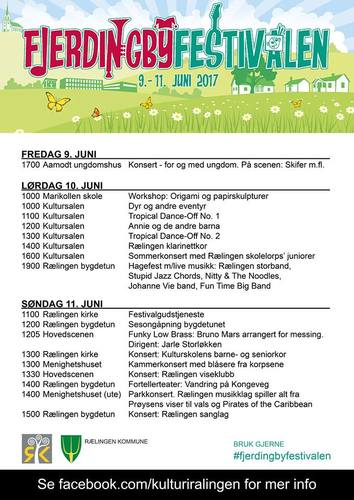 Program Fjerdingbyfestivalen