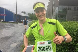 Vinner: Gjermund Thorson Nordskar vant Birken Fjellmaraton på 2.54.24. (Foto: Finn Olsen)