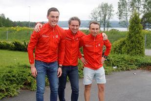 Arnt Nyborg i Team ParkettPartner ser fram til en ny vinter med bl.a. nykommer Magnus Vesterheim (til venstre) og Anders Kampenhøy (til høyre) i stallen.