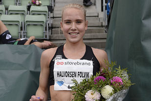 Ingrid Halvorsen Folvik er tilbake i godt slag og vant den nasjonale 1500 meteren. (Foto: Bjørn Johannessen)
