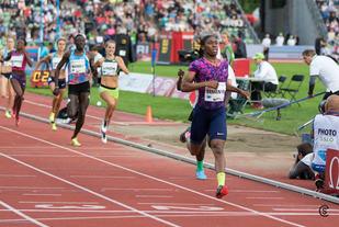 Caster Semenya tok sin tredje strake Diamond Leauge-seier på 800 m. (Foto: Sylvain Cavatz)