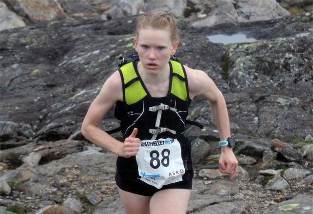 Karoline Holsen Kyte på vei mot løyperekord i Gullfjellet Opp
