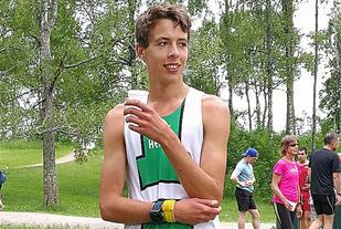 Ulrik Astrup Arnesen, Heming vinner 1 runde i det 481. Sognsvann Rundt Medsols  Foto: Heming Leira