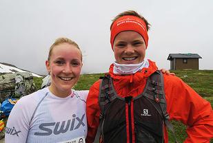 Vinnarar av konkurranse kort løype vart Øystein Støfring (t.h) og Kathrine Rørtveit. (Alle foto: Sindre Hoff)