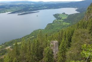 Utsikt fra Krokskogstupet