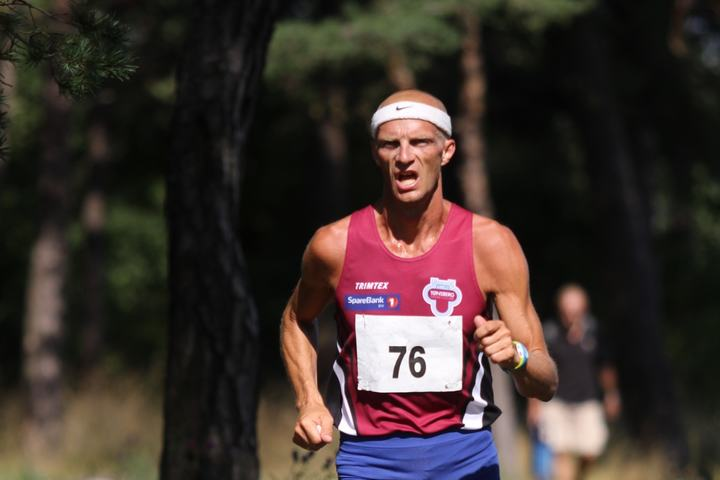 Håkon i Kystleden Halvmaraton 2015 – som han vant. (Foto: Stine Skog Hansen)