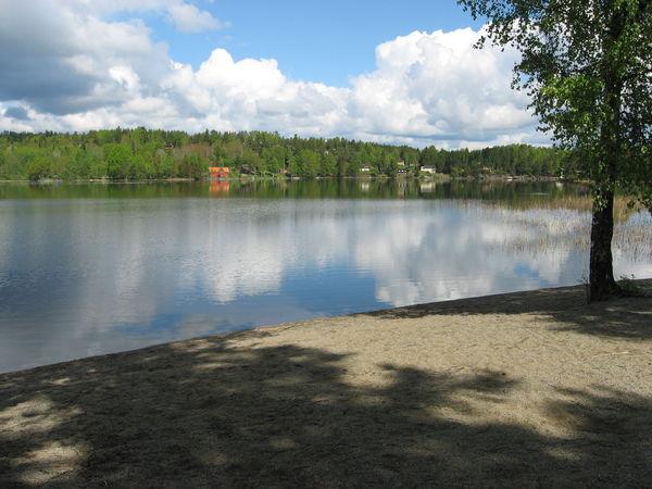 Bilde av badeplassen på Granodden. Foto: Ole Håkon Heier