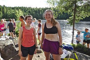 Amerikanske Molly Bazilchuk, OSI her til venstre etter Fagervann Opp, ligger på tredjeplass sammenlagt. Foto: Audun Bugge