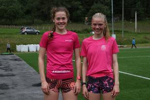 De to venninnene fra Sunnylven IL, Hege Ringdal (nr. 2) til venstre og Kristin Hjelbakk Hole (nr. 1) tok de to første plassene i kvinneklassen i Hellesyltløpet