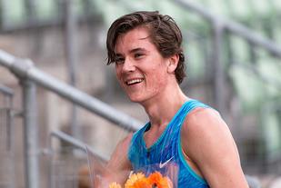 16 år gamle Jakob Ingebrigtsen kvalifiserte seg for VM i London i debuten sin på 3000 m hinder. (Arkivfoto: Samuel Hafsahl)