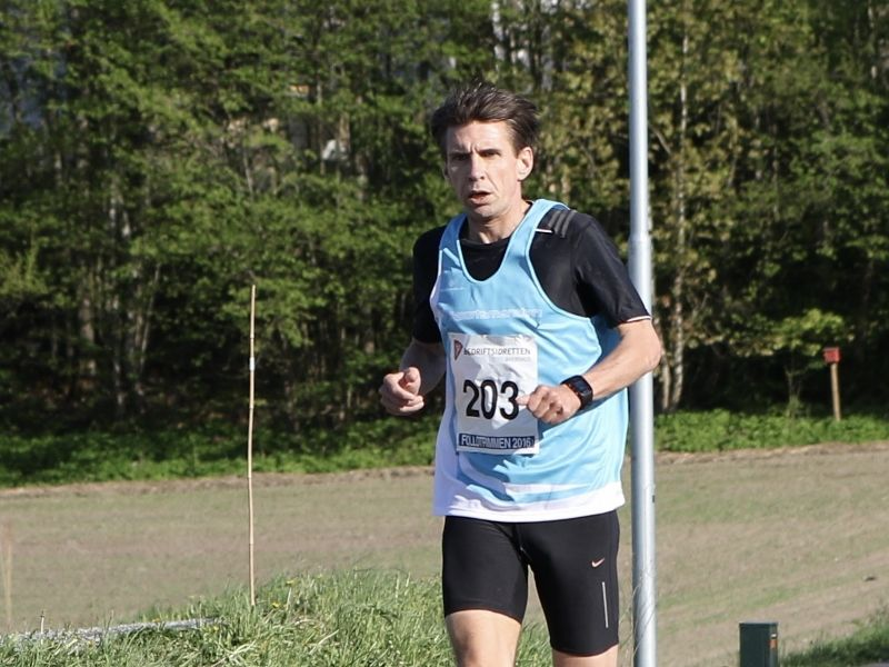 Lasse Sørlund i Follotrimmen tidligere i år. (Foto: Frode Monsen, Sportsmanden)