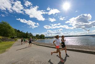 Prøveløping en times tid før hvert løp er obligatorisk på øyaløpene.  Foto: Stian S. Møller