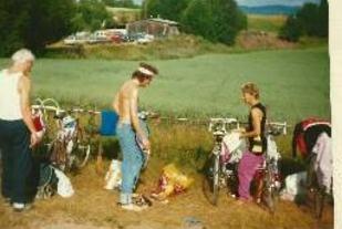 Fra triatlonet i Hof 1986. Foto: Privat