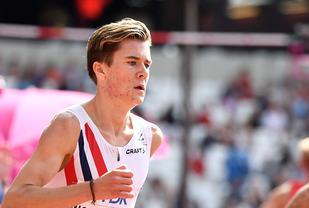 Det holdt ikke helt inn, men Jakob Ingebrigtsen gav det han hadde og lærte helt sikkert mye av VM-debuten. (Foto: Bjørn Johannessen)