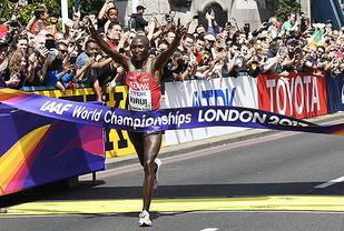 Geoffrey Kirui viste fram talentet sitt da han vant Boston Marathon i vår. Nå knuste han enda sterkere konkurrenter i VM. (Foto: Bjørn Johannessen)