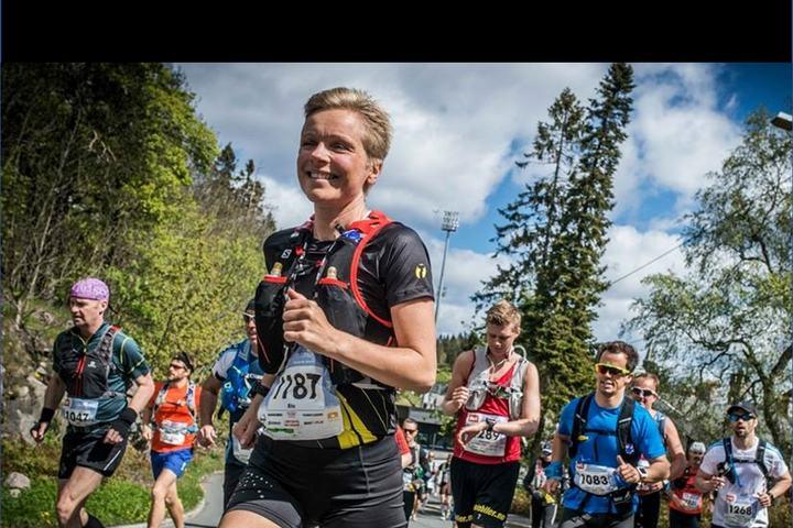 Rita Steinsvik på EcoTrail Oslo 2015. (Foto: Kai-Otto Melau)