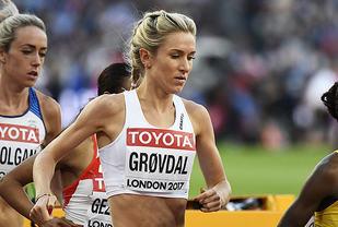Karoline Bjerkeli Grøvdal hadde en sterk avslutning og gikk videre til finalen. (Foto: Bjørn Johannessen)