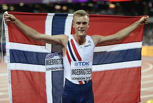 Filip Ingebrigtsen kan feire at han er verdens tredje beste 1500 m-løper. (Foto: Bjørn Johannessen)