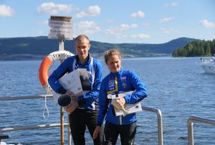 O-løperparet Eskil Kinneberg og Lisa Risby vant begge i Åneskøl Opp. (Foto: Bjørn Saksberg)