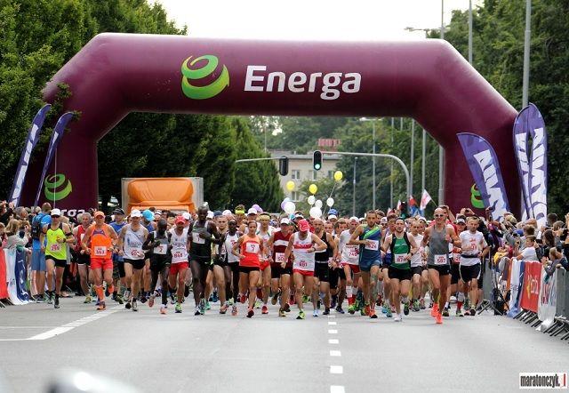 Fra starten av årets Gdansk Marathon som gikk under løpsforhold med skyet vær og temperaturer rundt 20 grader (Foto: www.maratonszyk.pl)