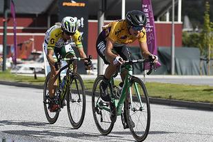 Nederlandske Marianne Vos (til høyre) kom på 3. plass på 3. etappe og ble dermed også sammenlagtvinner i årets utgave av Ladies Tour of Norway. (Alle foto: Bjørn Johannessen)