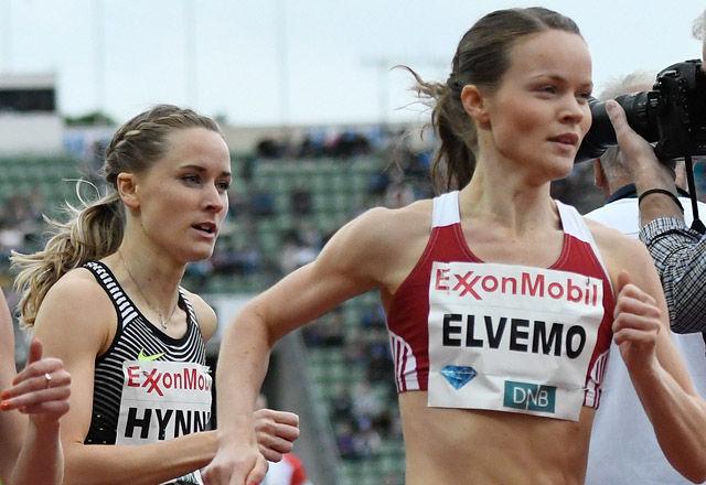 Hedda Hynne og Yngvild Elvemo løp 800 m i hvert sitt stevne nå i helga. (Arkivfoto: Bjørn Johannessen)