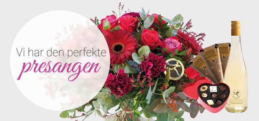 Blomster med tilleggsgave