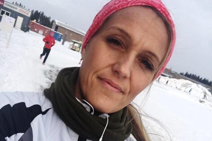 Anne Lise's selfie etter Vintermaraton 2016.