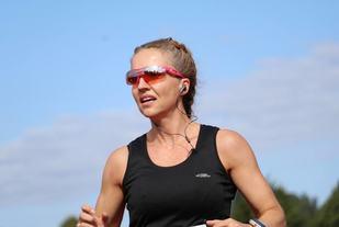 Therese Falk imponerte med å løpe over 73 kilometer på Ringerike 6-timers. (Foto: Hans Edgard Rakeie)