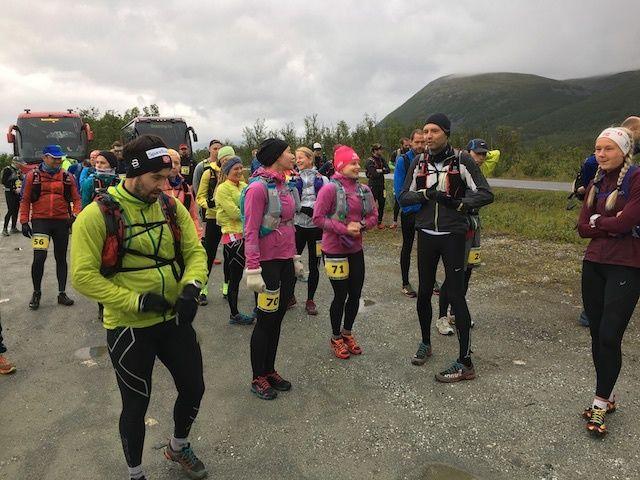 Fra starten på 50 km kl 09.00 på lørdag. (Foto: Thomas K. Føre)