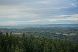 Utsikt fra målområdet på Rafjellet. (Arrangørfoto)