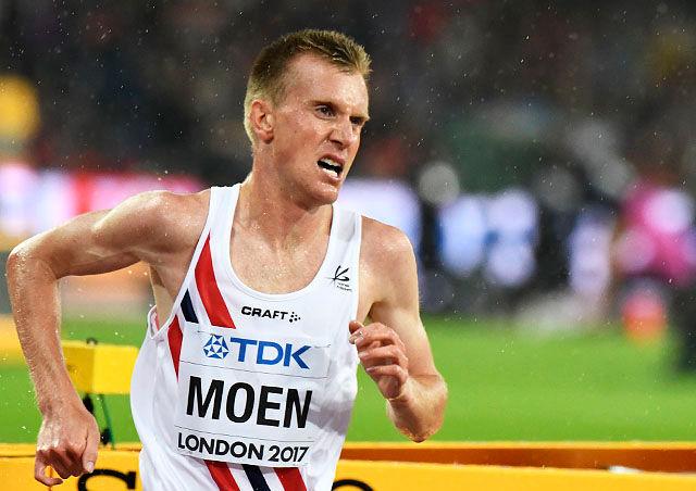 Sondre Nordstad Moen ble første nordmann til å løpe 10 km gateløp under 28 minutter. (Arkivfoto: Bjørn Johannessen)