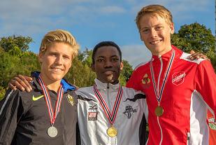 Premiepallen 3000 meter G18/19: Simen Halle Haugen, Thomas Jefferson Byrkjeland, Fredrik Sandvik.