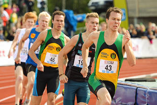 Thomas Roth var den sterkeste 800 m-løperen på heimebane på Jessheim. (Arkivfoto: Erling Pande Braathen)