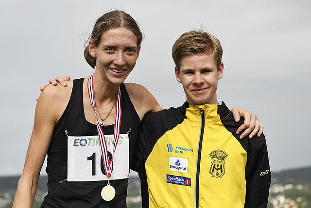Tessa Frenay vant kvinneklassen, mens Trym Tønnesen vant herreklassen i den niende utgaven av Kanonløpet. (Alle foto: Bjørn Johannessen)