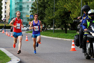 Eirik Gramstad og Rolf Steier på Filipstad på 10 km. Foto: Oddvar Røsten