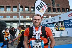 Jimmy Vika på det avsluttende maratonløpet i prosjektet 202020. Foto: Kjell Vigestad