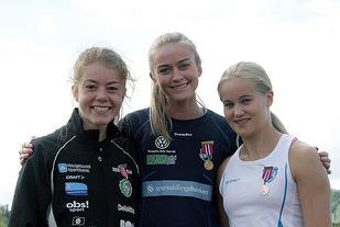 Vilde Våge Henriksen, Amalie Sæten og Malin Edland er 3 av de 28 mellom- og langdistanseløperne som er tatt ut på rekrutteringslandslaget. (Foto: Tom Roger Johansen)
