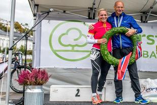 Gerda Fasseland og Erik Bergersen vant Konvoi Maraton i 2016. Foto: Johannes Hoel